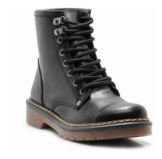 Borcegos Acordonado Zapato Savage Eco Cuero Moda Hotsale