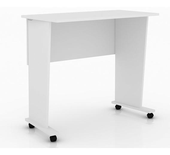 Mesa Para Computador Dobrável Com Rodízio Me4117 Branco