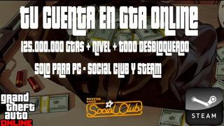 Gta V Pc | 250 Millones Dinero + Nivel + Rp - Chetado