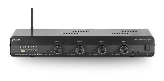Amplificador Receiver Frahm Slim 4500 Optical Blue Usb/sd/fm