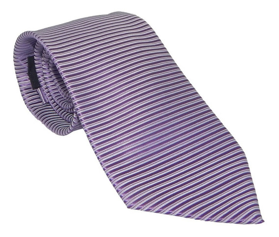 Corbata Italiana Lila Claro Texturizada Horizontales