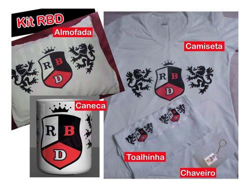 Rebelde Kit Rbd Camiseta, Almofada, Caneca, Bolsa