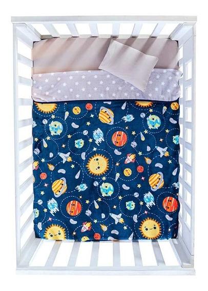 Cobertor Para Bebé Nórdico Carriola Planeta Vianney