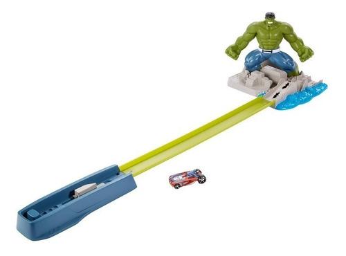 Pista De Autos Hulk City Attack + 1 Hot Wheels De Regalo Ajd