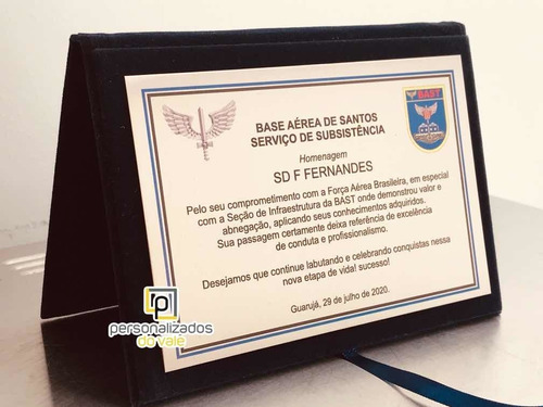 Placa De Homenagem Aeronáutica, Exército, Polícia