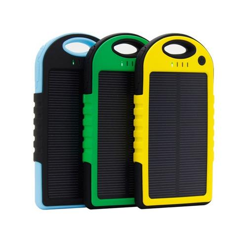 Cargador Batería Panel Solar Power Bank 5000 Mah Linterna