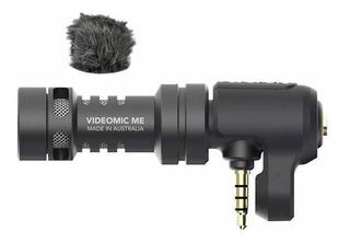Micrófono Rode VideoMic Me condensador cardioide negro