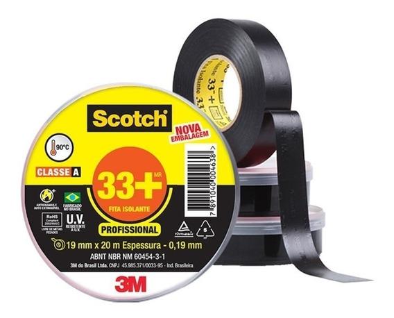 Fita Isolante 19mm X 10 M X 0.19mm 33+scotch