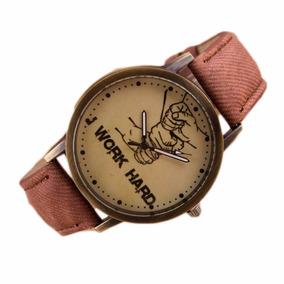 Promoção Relógio Work Hard Modelo Exclusivo! Retro Couro!