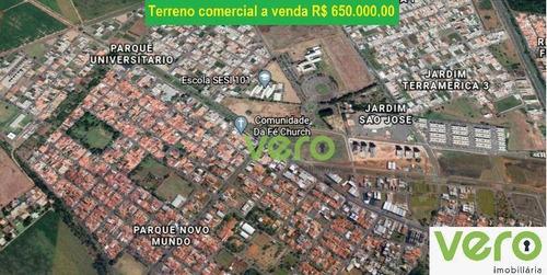 Imagem 1 de 1 de Terreno À Venda, 515 M² Por R$ 650.000,00 - Parque Universitário - Americana/sp - Te0014