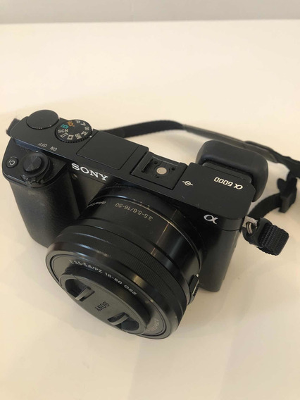 Câmera Digital Sony Alpha A6000 Com Lente 16-50mm 3.5-5-6