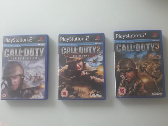 3 Jogos Originais Ps2 Pal Europeu Call Of Duty