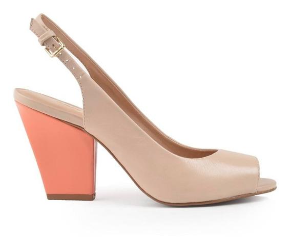 Zapatos De Mujer De Cuero Zuecos Saona Beige - Ferraro