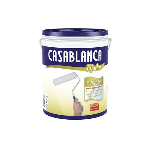 Imagen 1 de 6 de Fijador Al Agua Concentrado Casablanca X 4lt Pintumm