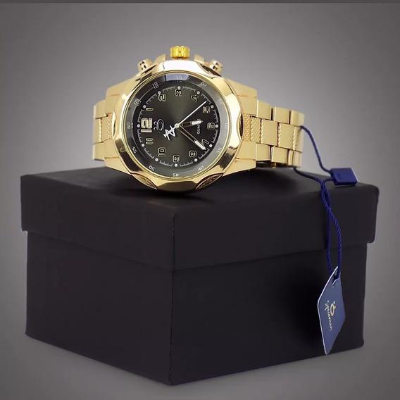 Relógios Masculino Dourado Prata Original