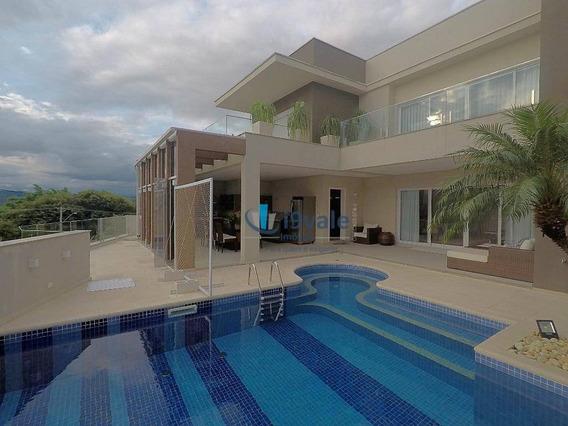 Linda Mansão Com 4 Suítes À Venda, 436 M² Construído Por R$ 2.800.000 - Condomínio Residencial Jaguary - São José Dos Campos/sp - Ca1168