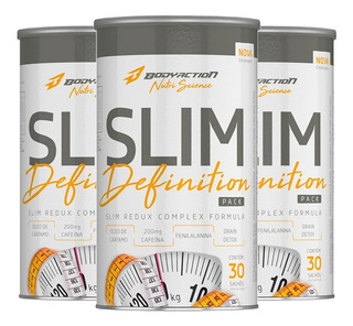 Kit 3x Thermo Slim Definition Pack 30 Packs - Bodyaction