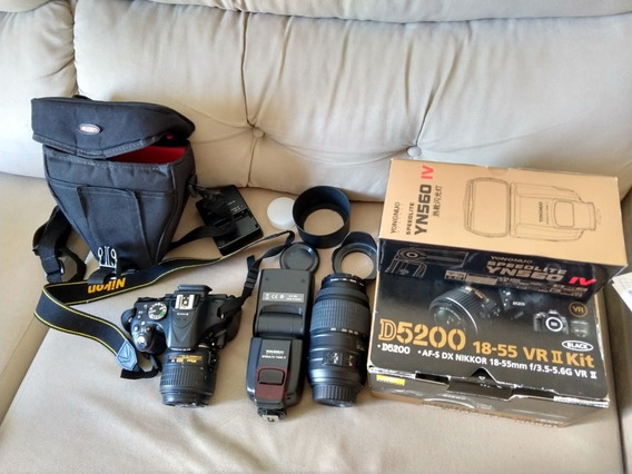Nikon D5200 - Lentes: 55-300mm Com Ar E 18-55mm Com Filtro