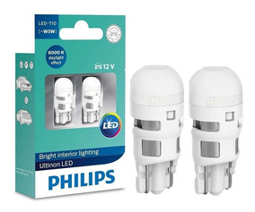 Lâmpada Philips Pingo Led Ultinon 6000k W5w T10 Super Branca