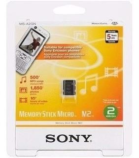 Cartão Memória Micro M2 4gb Sony Original Ms-a4gn
