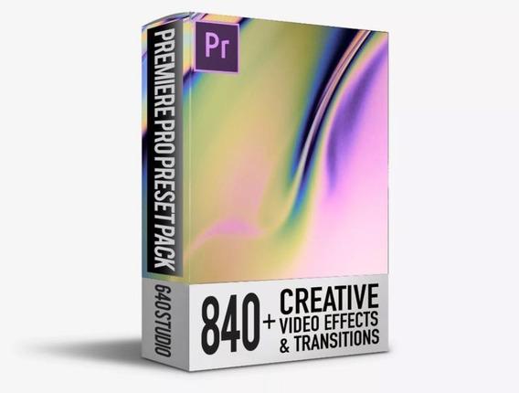 Pack 840 Transiciones & Efectos Para Adobe Premiere