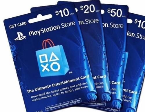Tarjetas Digitales Playstation Network Para Ps4 Ps3 10 - 100