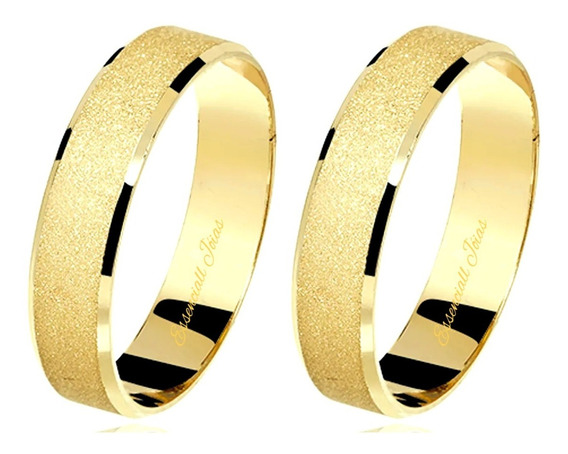 Par Alianças 4mm 4gr Casamento Ouro 18k Casamento!