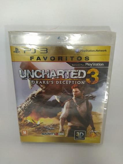 Jogo Ps3 Uncharted 3 Drake`s Deception Mídia Física, Lacrado