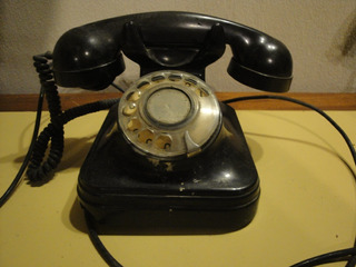 Telefono Antiguo Baquelita Negro