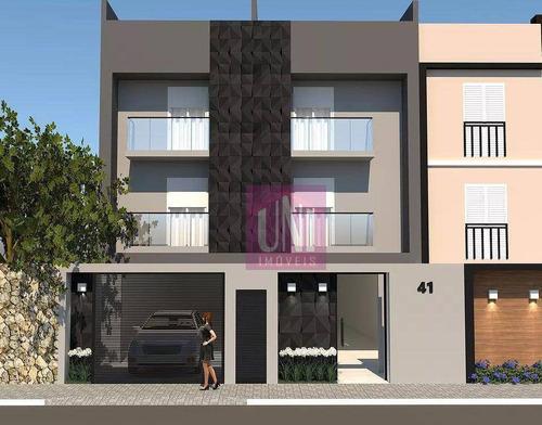 Cobertura Com 2 Dormitórios À Venda, 107 M² Por R$ 428.000 - Vila Guiomar - Santo André/sp - Co0960