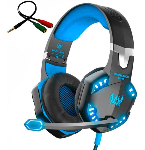 Audifonos Gamer En Diadema Kotion G2000 Microfono Usb Y Led