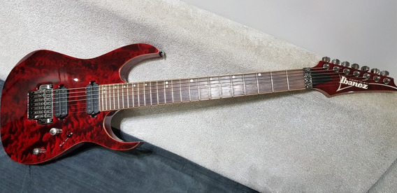 Guitarra Ibanez 7 Premium Rg 827 Qmz+ Hard Caser + Tag Compl