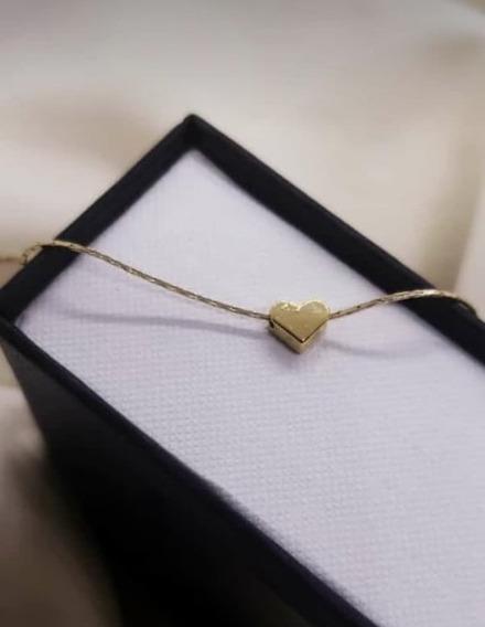 Cadena Corazón Mini, Chapa De Oro