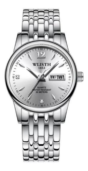 Relógio Wlisth Feminino Casual Resistente À