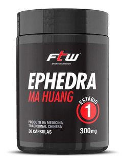 Ephedra Ma Huang 30caps 300mg Efedrina Termogênico Ftw Full