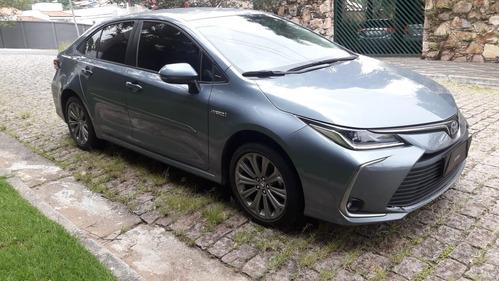 Toyota Corolla Altis  Hybrid Ano 2020 Cor Cinza Novo