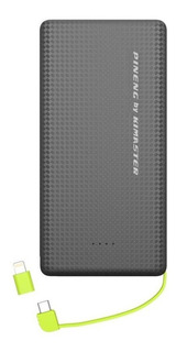 Bateria Portátil Externa Pineng Pn951 10.000 Mah Preto