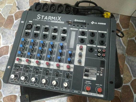 Mesa De Som Ll Audio (starmix) 6 Canaisusb/bluetooth/efeito.