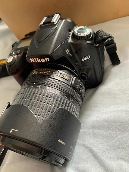 Câmera Nikon D90 Com Objetiva 18-105