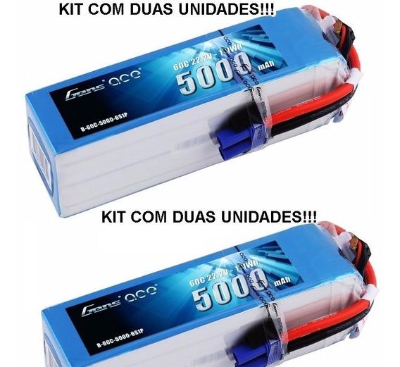 Bateria Lipo 6s 22.2v 5000mha 60c Gens Ace - (kit Com Duas)