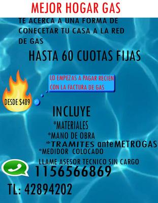 Gasista Matriculado Instalacion De Gas Natural En 60 Cuotas