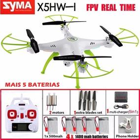 Drone Quadricóptero Syma X5hw Com Câmera Wifi + 3 Baterias