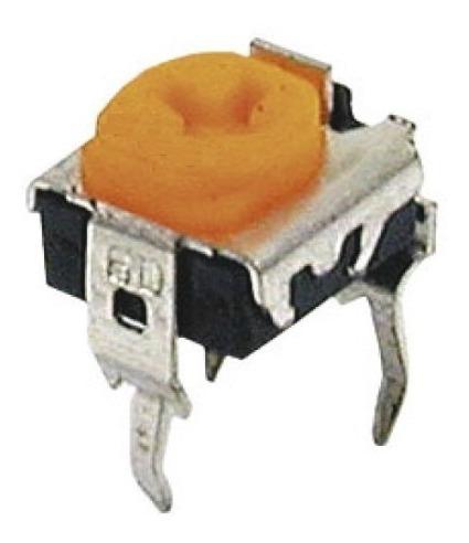 10un Mini Trimpot Horizontal 3k3 332 Amarelo 7824
