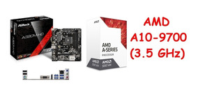 Kit Gamer Asrock A320m-hd Am4 + Processador A10 9700 Apu