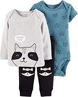 Kit Infantil Carters 3 Pc Calca, Body E Blusa Algodao