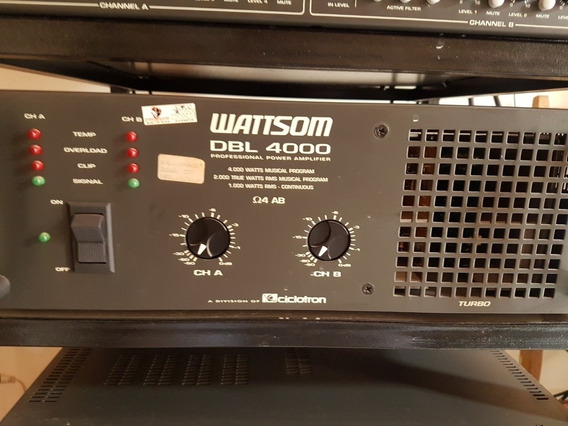 Amplificador Wattsom Dbl 4000