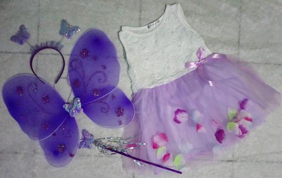 Disfraz Mariposa, Vestido De Tul, Varios Colores Y Tallas