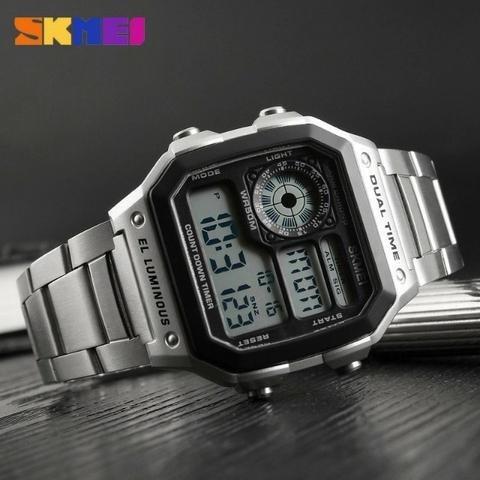 Relógio Digital Skmei 1335 Inoxidável A Prova Dagua, 4 Cores