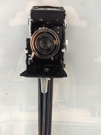 Câmera Antiga Zeiss Ikon 1.7,7 F 10,5 Cm