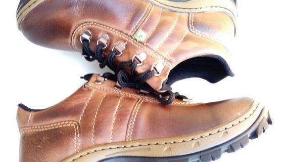 Sapato Masculino Coturno Couro Botina Segurança Trabalho
